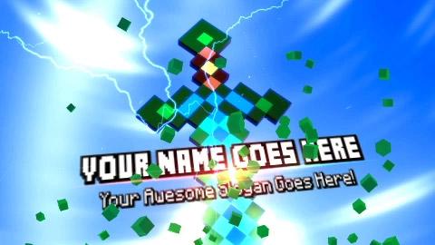 Minecraft Warrior Logo Video Intro Maker Online Introchamp